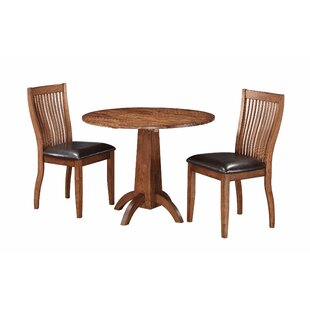 Blanco Point 3 Piece Solid Wood Dining Set