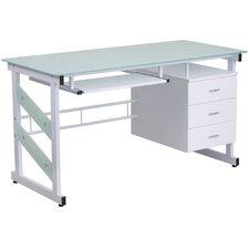 Modern Glass Desk modern glass desks | allmodern