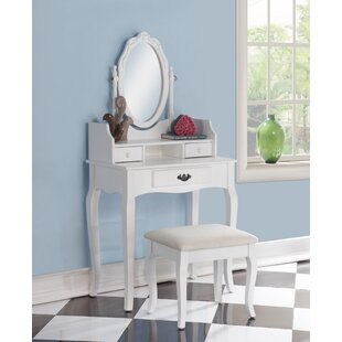 Makeup Vanity Table With Mirror And Bench. Save to Idea Board Bedroom  Makeup Vanities Joss Main