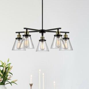 industrial chandelier lighting. Shae 5-Light Shaded Chandelier Industrial Lighting G
