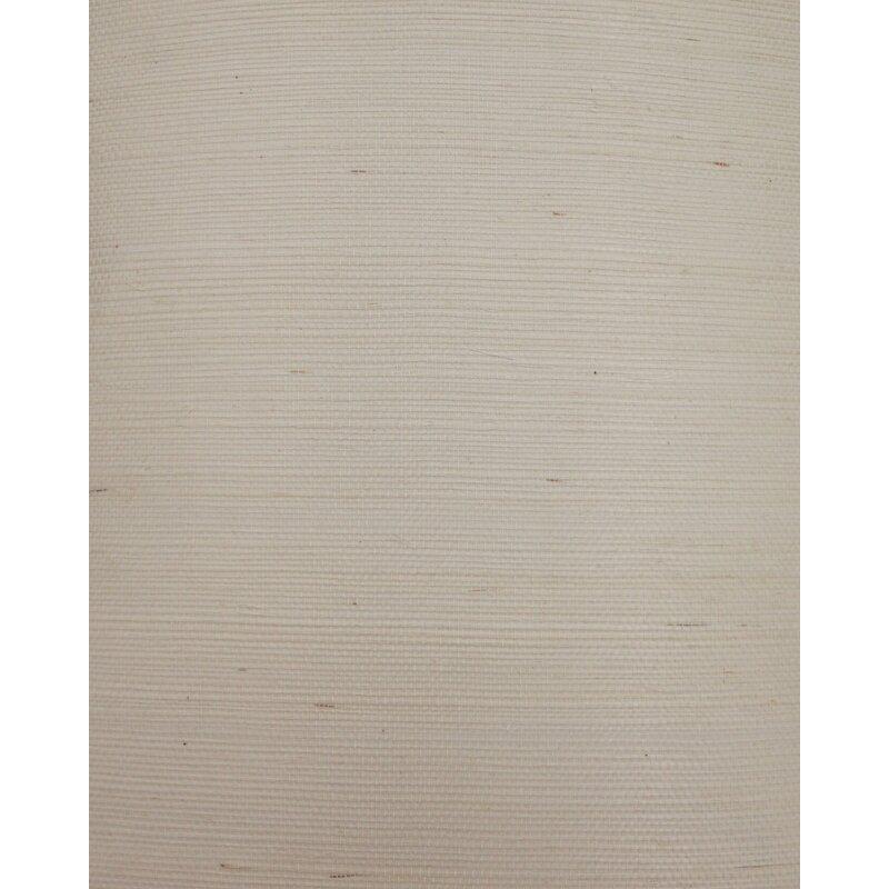 "17 Stories Cosmo 24 L x 36"" W Plain Sisals Wallpaper Roll  Color: Cream"