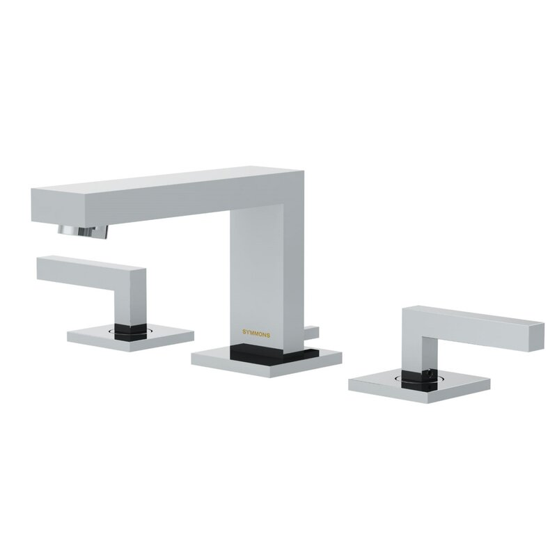 Symmons Duro Low Spout Widespread Standard Bathroom Faucet Double ...