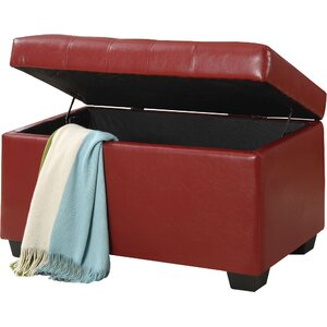 Casey Faux Leather Ottoman