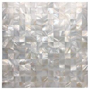 0 8 X Seashell Mosaic Tile In White Opal