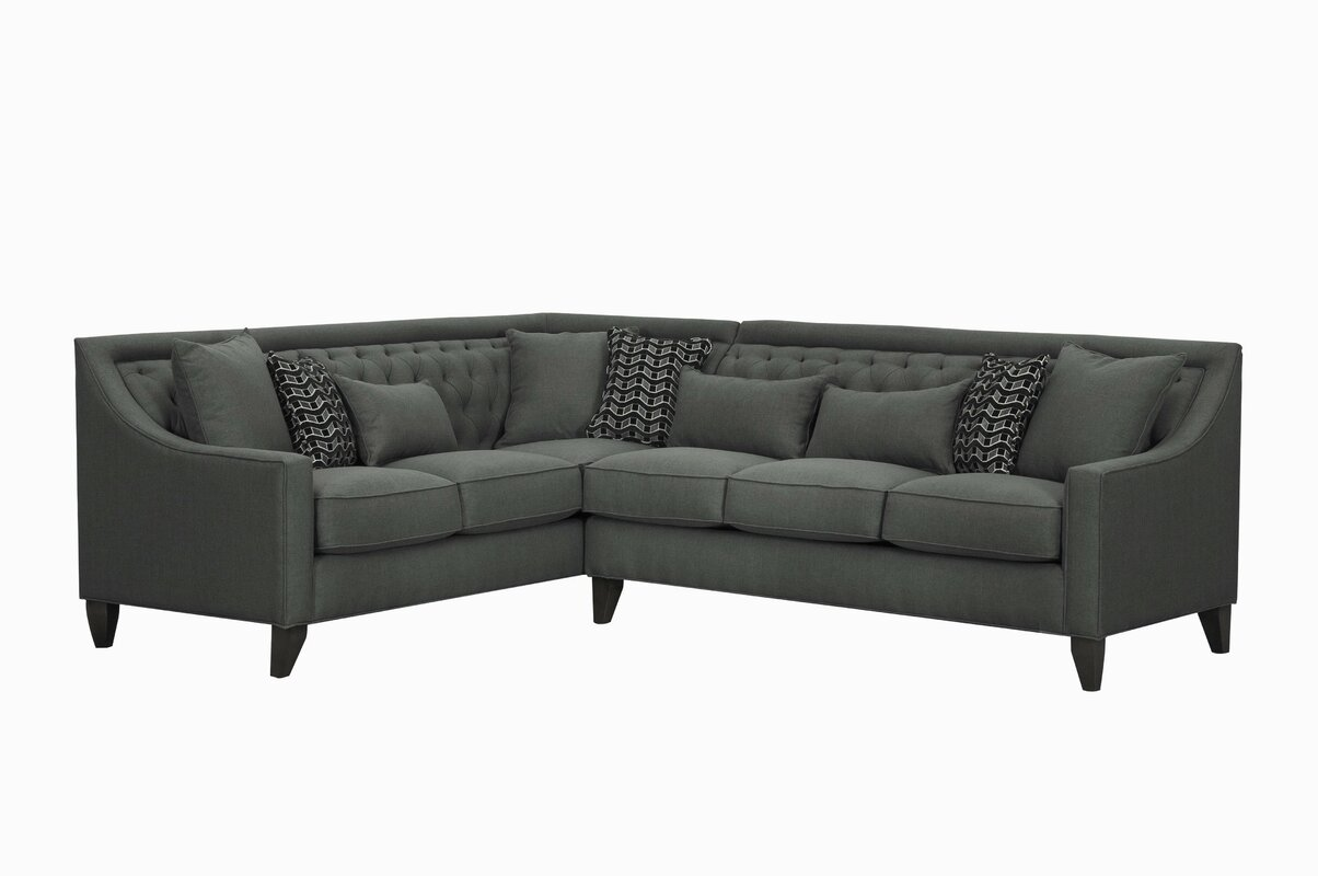 Zivah Solid L-Shaped Sectional  sc 1 st  Joss u0026 Main : l shaped sectional - Sectionals, Sofas & Couches