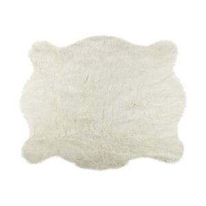 Shela Polar Bear Faux Cowhide Area Rug