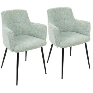 alfie upholstered dining chair set of 2