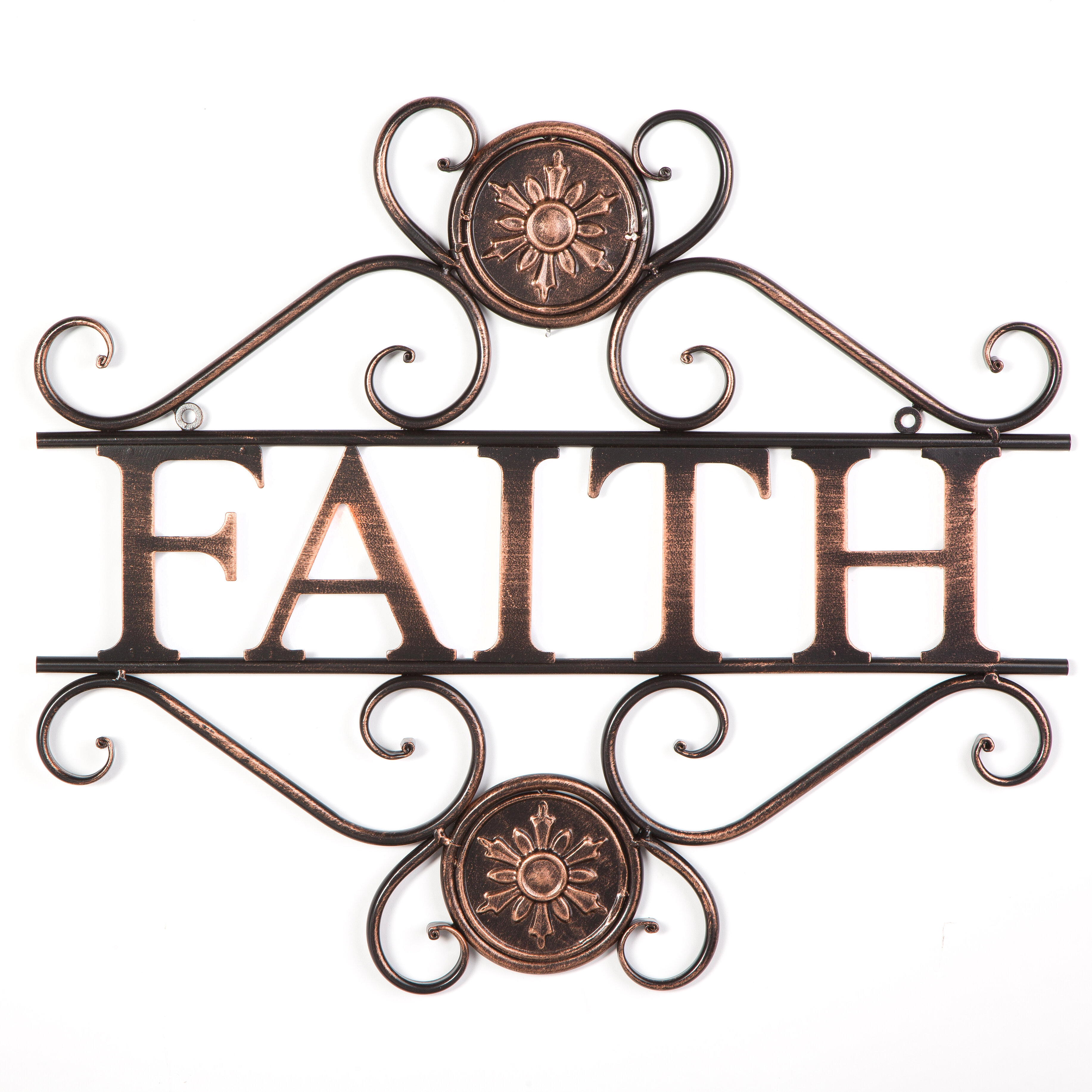 Byronanthonyhome Have Faith Wall Dcor Reviews Wayfair