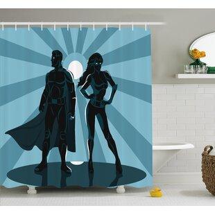 Superhero Unisex Costume Cape Shower Curtain