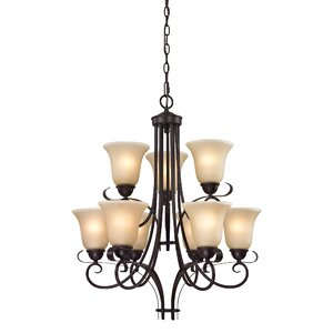 Malinda 9-Light Shaded Chandelier