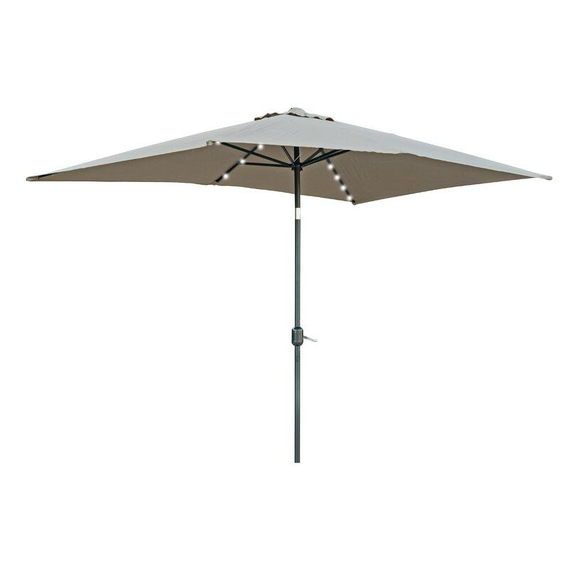 Rectangular Led Umbrella: Wade Logan Bangert 10' X 6.5' Rectangular Lighted Umbrella