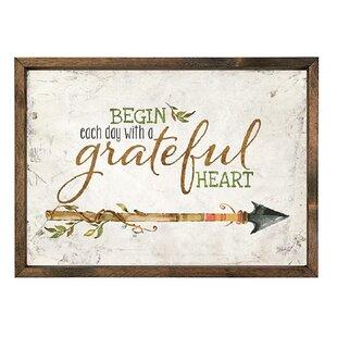 Genial U0027Begin Each Day With A Grateful Heartu0027 Wall Art