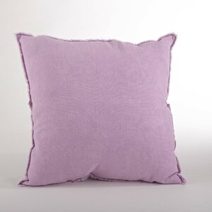Graciella Fringed Linen Throw Pillow
