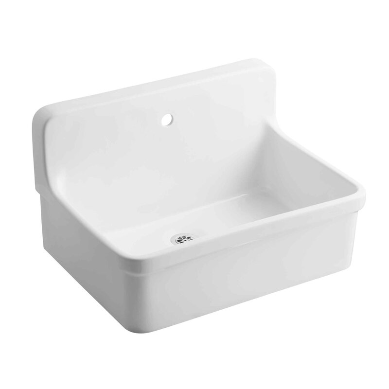 K 12781 0 Gilford 30 X 22 Wall Mounted Laundry Sink