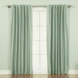 Green Striped Curtains Amp Drapes You Ll Love Wayfair