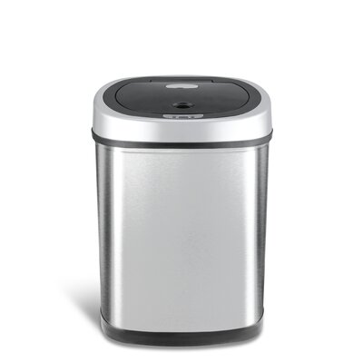 Eko 80l Motion Sensor Trash Can Parts Stainless Steel Sensing Touchless Infrared Sams Club