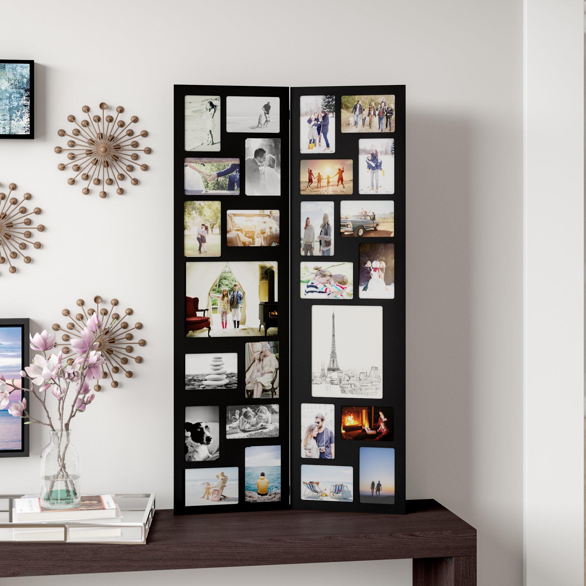 Latitude Run Pillar 26 Opening Decorative Wood Folding Floor Standing Photo  Collage Picture Frame U0026 Reviews | Wayfair