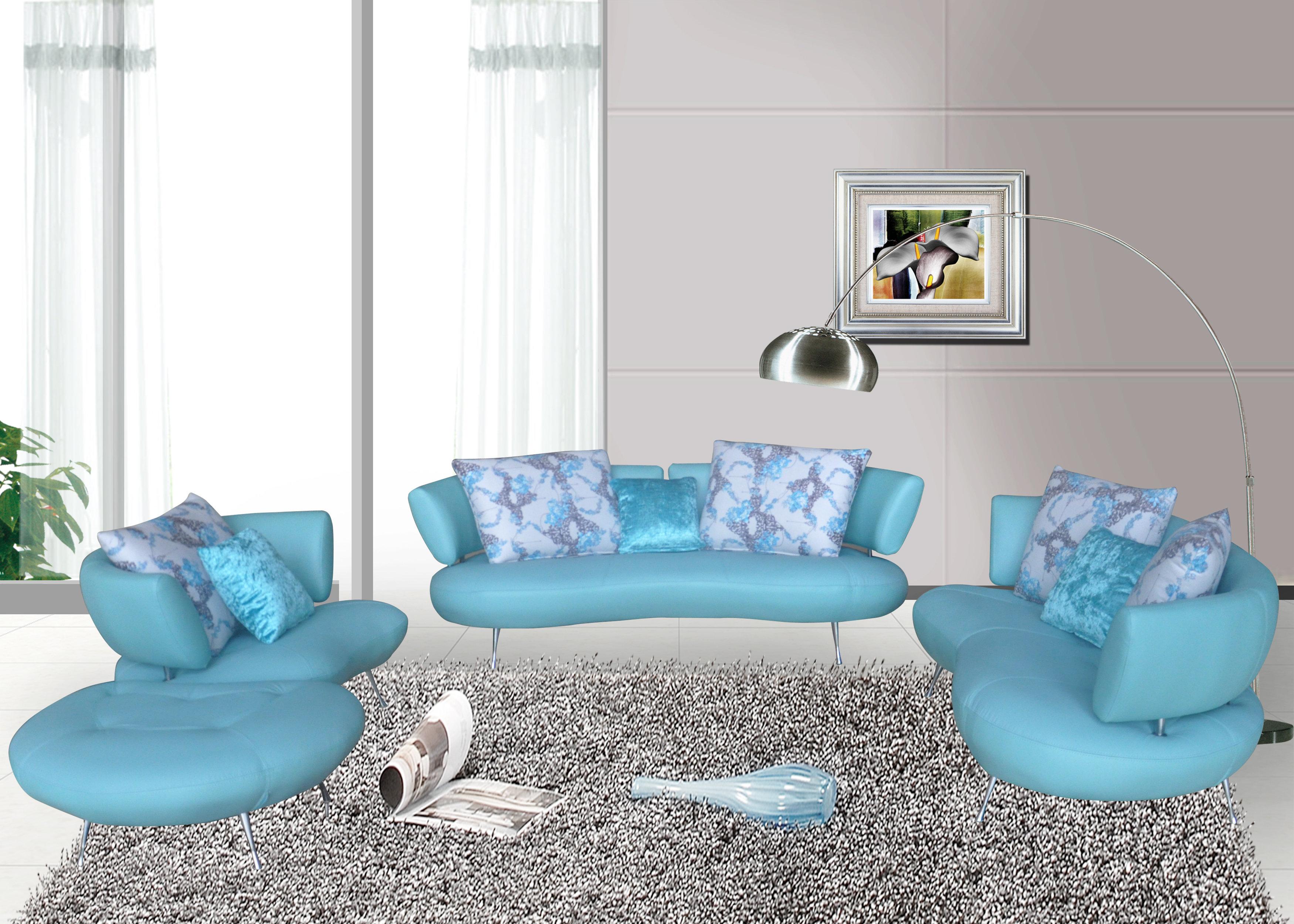 Orren Ellis Palomo 4 Piece Leather Living Room Set & Reviews