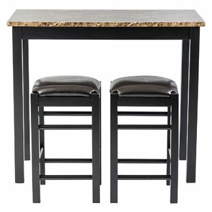 Moorehead 3 Piece Counter Height Dining Set