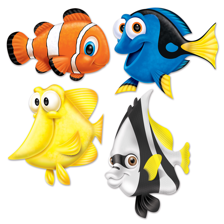 The Beistle Company Under The Sea Fish Cutouts Wall Décor | Wayfair