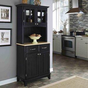 Black Display Cabinets You'll Love | Wayfair