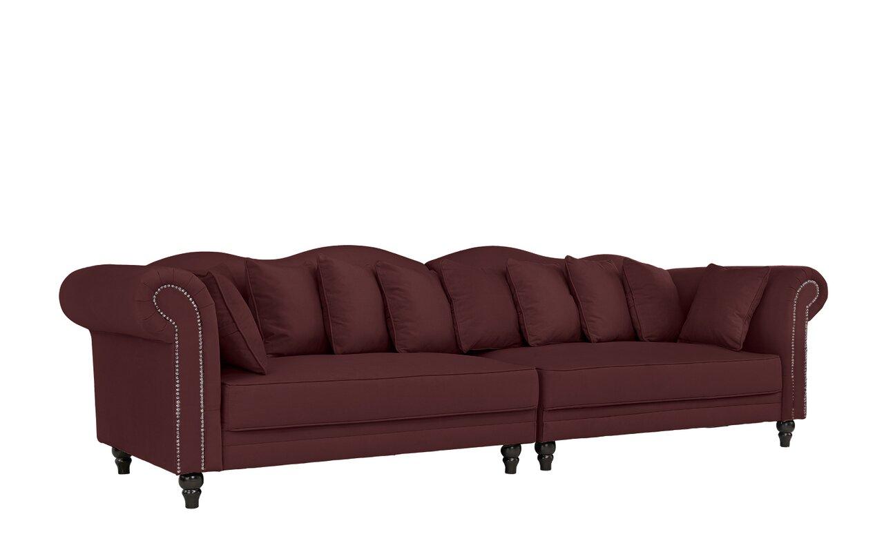 House Of Hampton Johnstown Large Chesterfield Sofa Reviews Wayfair ~ Oversized Chesterfield Sofa