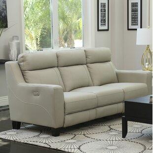 Florham Top Grain Leather Reclining Sofa