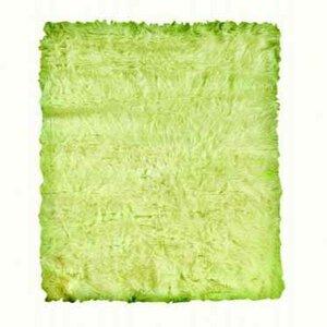 Samantha Faux Sheepskin Green Area Rug