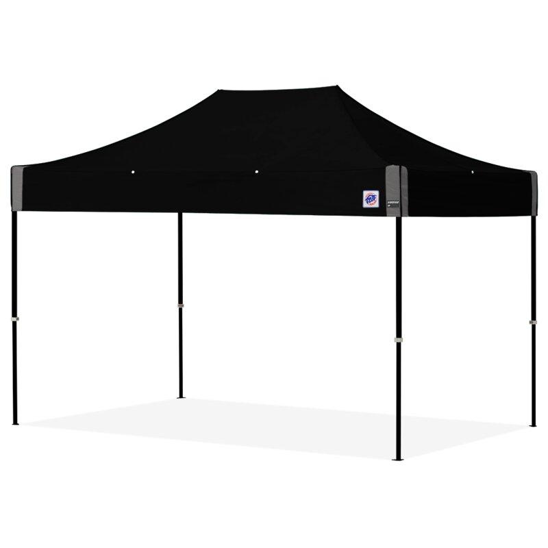 E Z Upsd Shelter 8 Ft W X 12 D Steel Pop Up Canopy