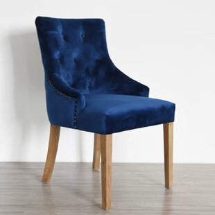 blue velvet dining chairs Royal Blue Velvet Dining Chair | Wayfair blue velvet dining chairs
