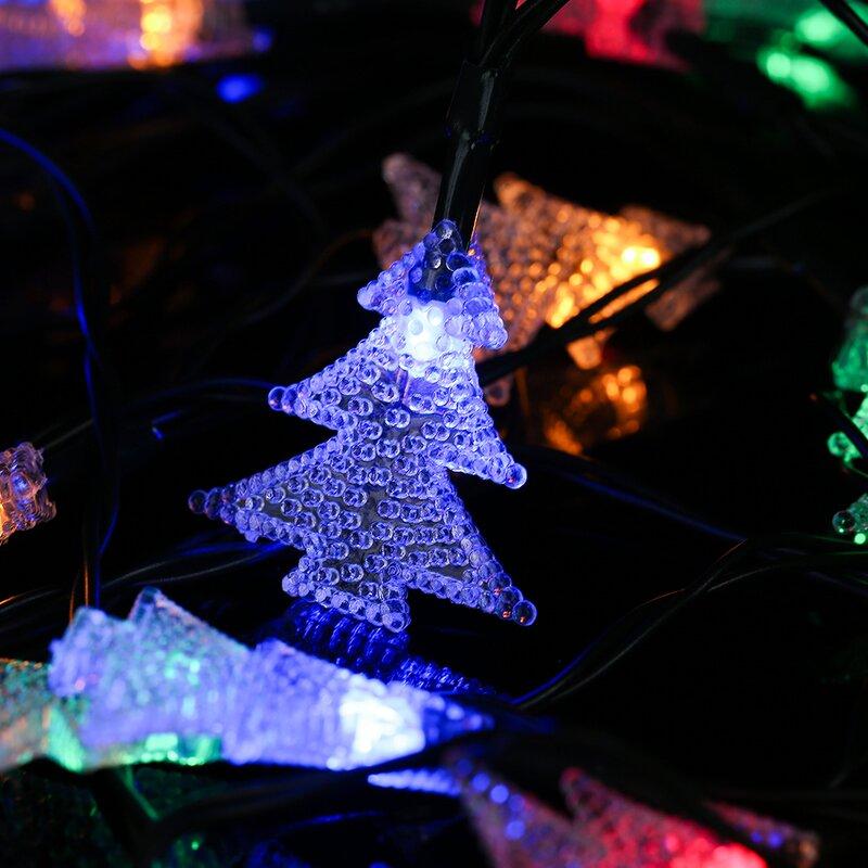 Winsomehouse solar outdoor christmas tree led 20 light string solar outdoor christmas tree led 20 light string lighting aloadofball Choice Image
