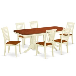 Krick 7 Piece Extendable Solid Wood Dining Set