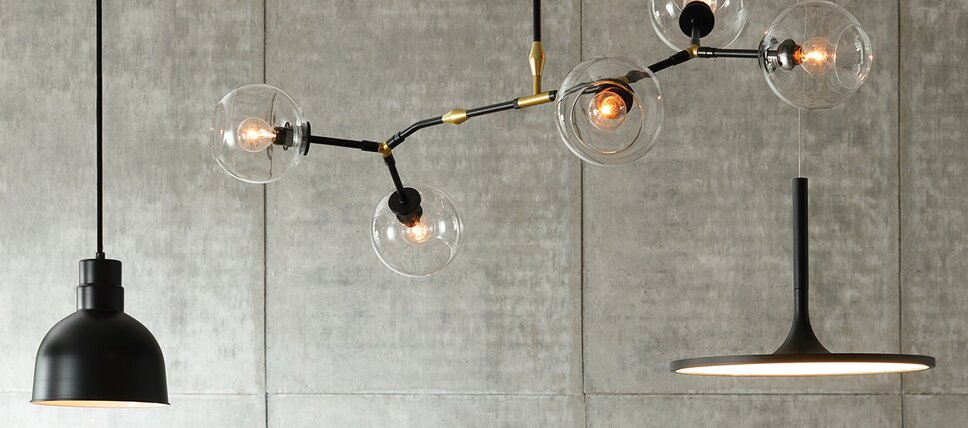 Modern ceiling lights allmodern black pendant lighting mozeypictures Gallery