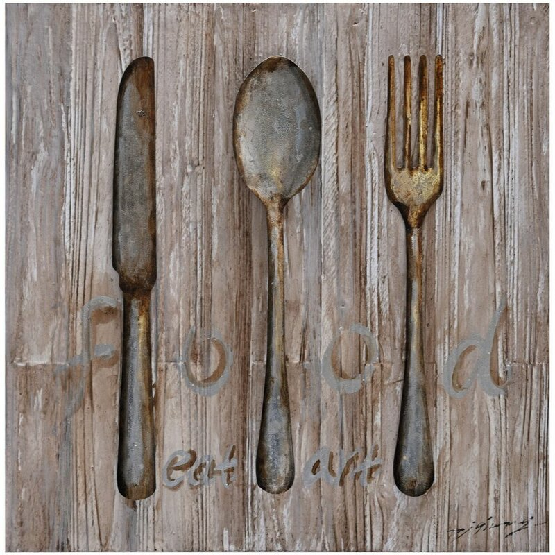 Woodland Imports Spoon Knife Fork Metal Wall Décor & Reviews | Wayfair