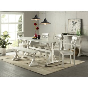 Fordingbridge 6 Piece Solid Wood Dining Set Design