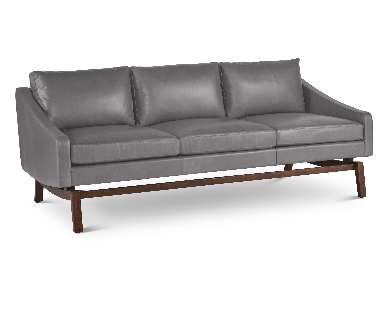 Ashley Signature Leather Sofa | Wayfair