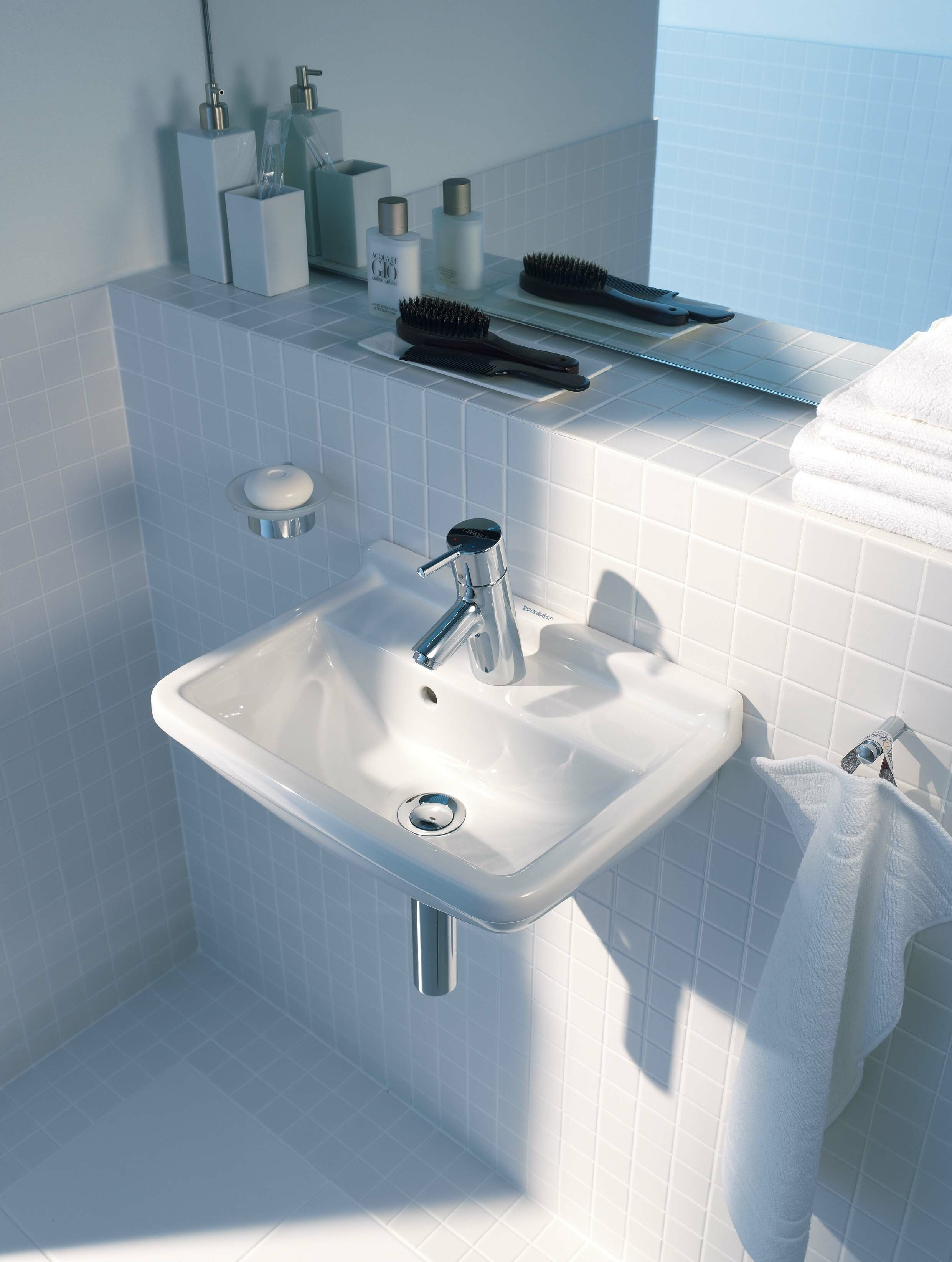 Bon Starck 3 Ceramic Vitreous China Specialty Wall Mount Bathroom Sink With  Overflow