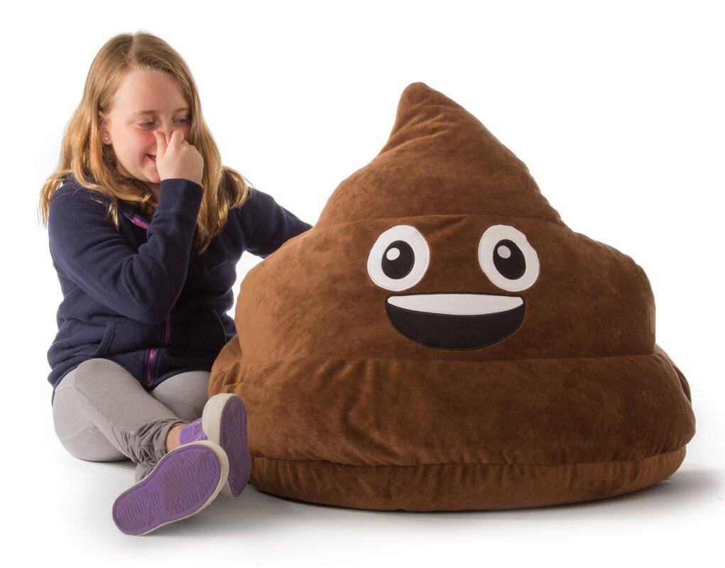 Pictures of bean bag chairs - Gomoji Emoji Poo Bean Bag Chair