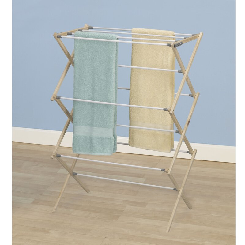 Drying Racks For Cabinet Frames ~ Household essentials pine wood frame free standing