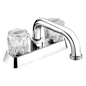 Essential Acrylic Round Double Handle Centerset Laundry Faucet