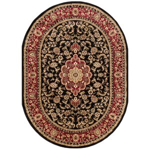 Belliere Medallion Black Area Rug
