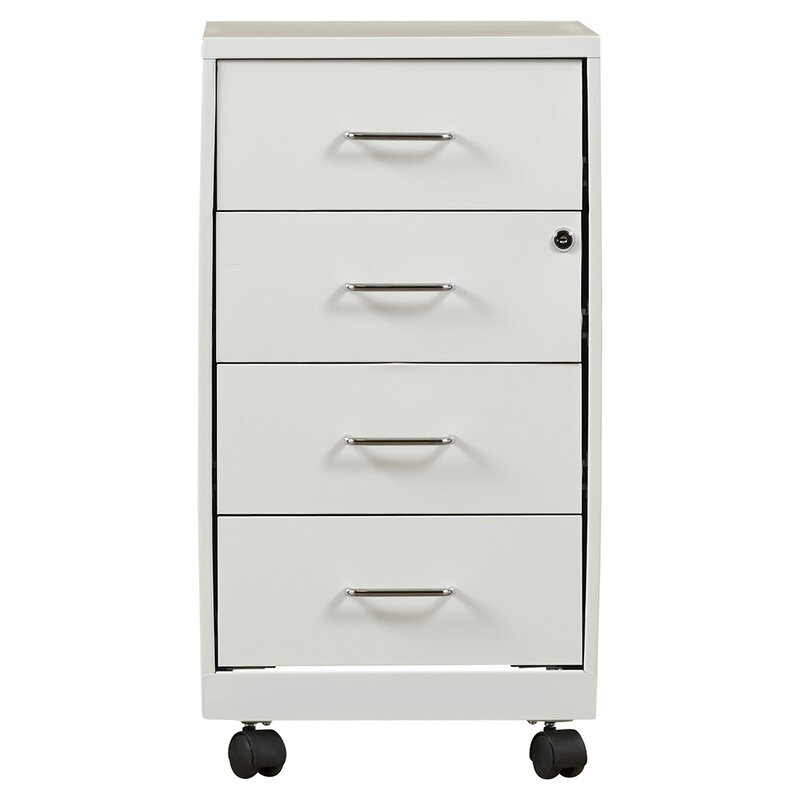 Symple Stuff 4 Drawer Steel Mobile File Cabinet amp Reviews Wayfair