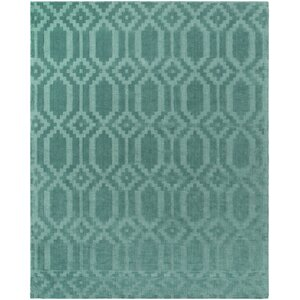 Metro Scout Hand-Loomed Teal Area Rug