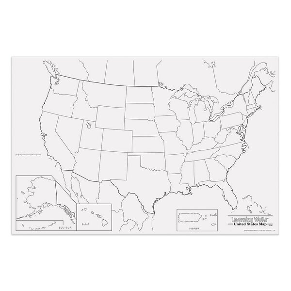 Pacon Creative Products Giant Us Map Wayfair - Giant us map
