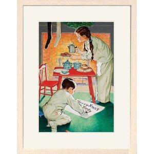 Merry Christmas Santy Framed Print of Painting