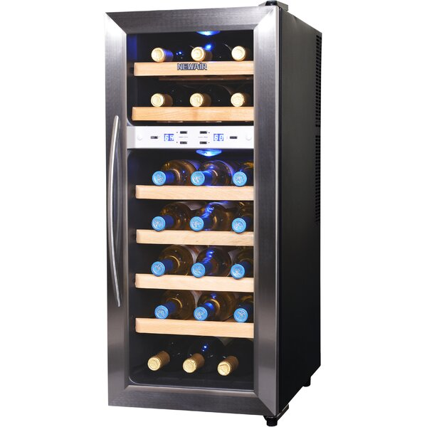 12 Bottle Wine Fridge Part - 41: NewAir 21 Bottle Dual Zone Freestanding Wine Cooler U0026 Reviews | Wayfair