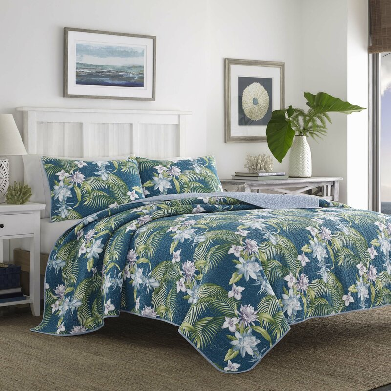 Tommy Bahama Home Southern Breeze Reversible Quilt Set By