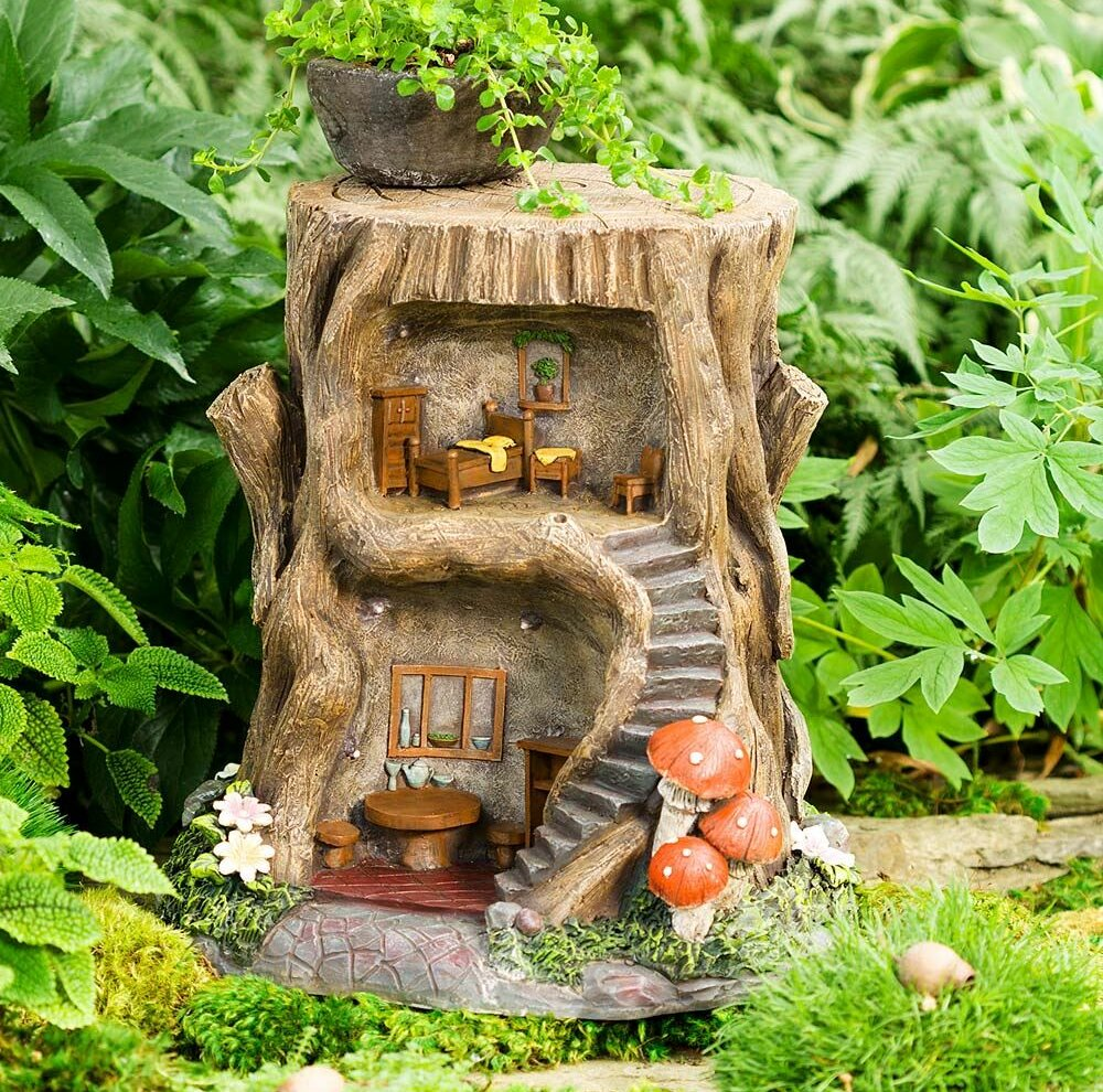 Wind & Weather 2-Story Lighted Fairy Garden | Wayfair