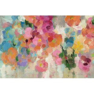 Colorful Garden I Painting Print On Wred Canvas