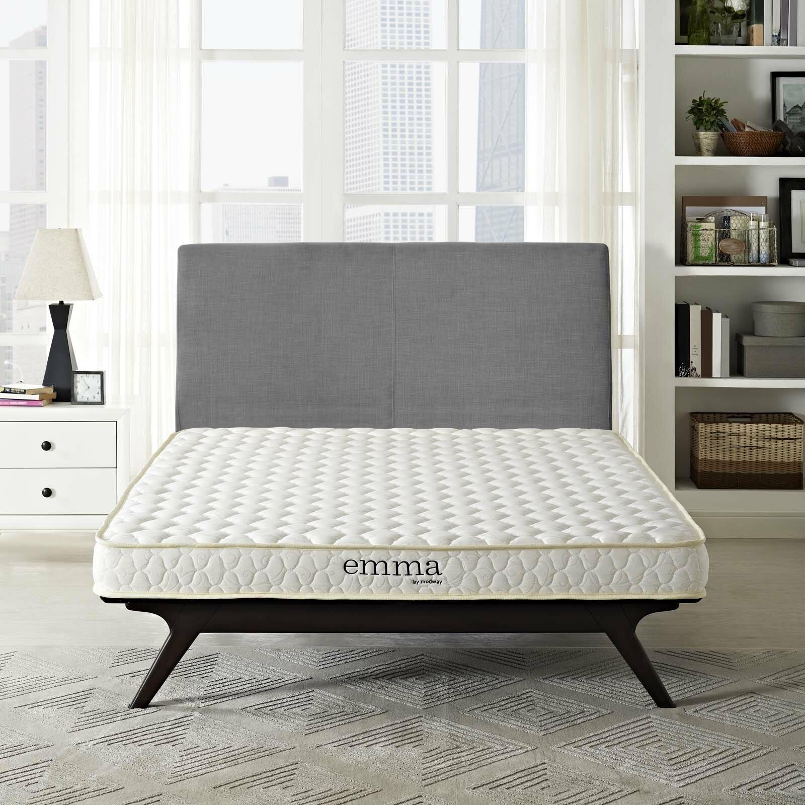 modway emma 6 medium memory foam mattress reviews wayfair